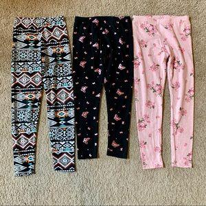 3 Girls Leggings Size 7 Medium